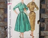 50s dress Pattern MAD MEN & June Cleaver Date Ready Simplicity sz 14 bust 34