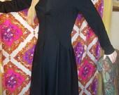 Designer Dress LBD 5th Ave Classic Black Long sleeve B. Altman Classy size M size 14