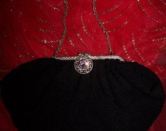 SALE, Vintage Black Bag, Formal black bag, Formal Clutch,  Black Handbag, Vintage formal bag, Vintage clutch