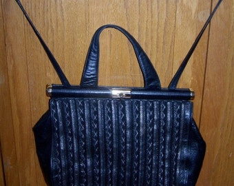 Leather Satchel, Black Satchel,  Black Leather Bag,  Large Black Bag, Messenger Bag, Leather Messenger