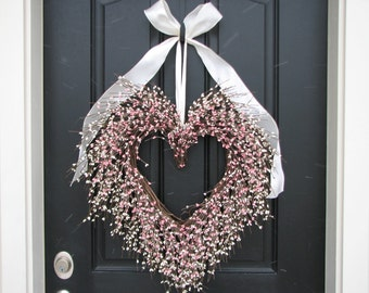 Valentine Wreath   The Friendship Wreath   Door Wreaths