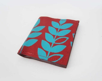 WALLET - red leather wallet - unisex wallet - custom leather wallet - mens bifold wallet - slim wallet - handmade wallet - leather billfold