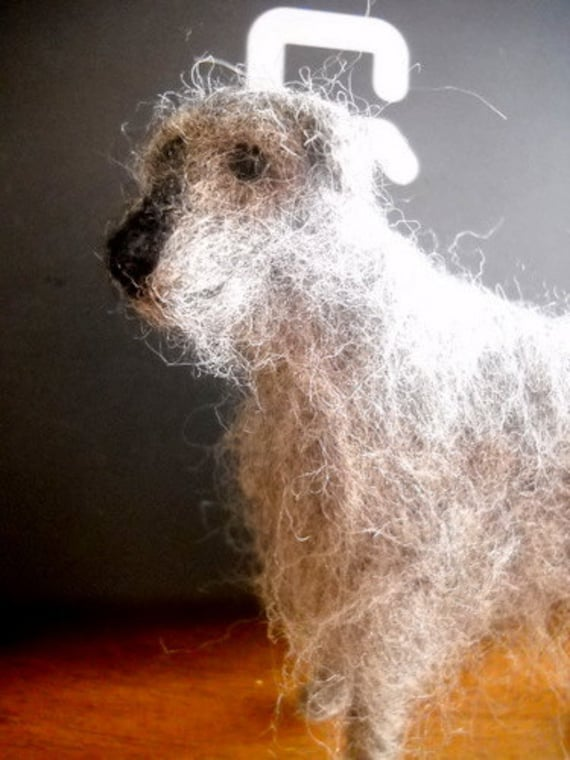 Irish Wolf Hound Wool Sculpture