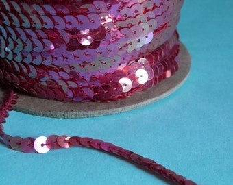7 yds. Sequins in Cherry AB for Lyrical Dance, Costume Design, Headbands, Decorative Crafts