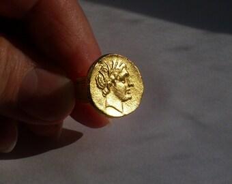 Vintage Ancient Greek Roman Coin Cuff Links Alva Museum