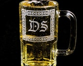 2 Irish Wedding Monogrammed Beer Mugs, Gifts for Groomsmen