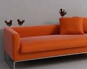 Little Bird Decals - set of three - vinyl wall art decals - wall bird decal