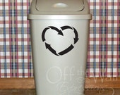 Recycle Heart - Vinyl Decal - Recycle Sticker - green - wall art - reduce, reuse, recycle