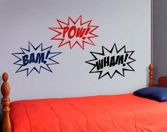 Superhero Wall Decor superhero wall decal | etsy