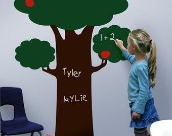 Large Chalkboard Tree Set, vinyl decal wall art