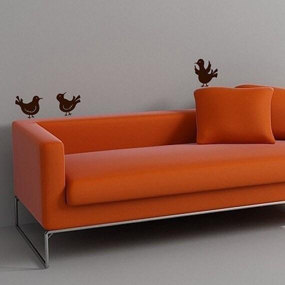 little bird decals set of three vinyl wall art decals. Black Bedroom Furniture Sets. Home Design Ideas