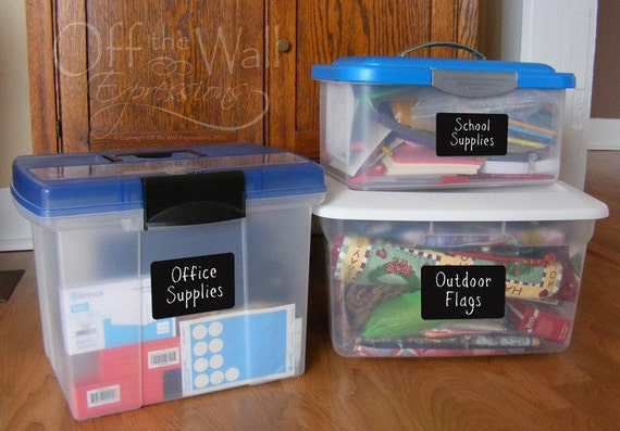 Chalk Labels - Assorted Rectangles, peel and stick labels, organization stickers