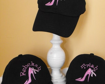 Personalized Breast Cancer Awareness Ball  Cap Hat