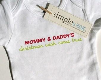 christmas wish come true baby bodysuit