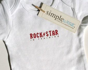 rock star in training baby bodysuit