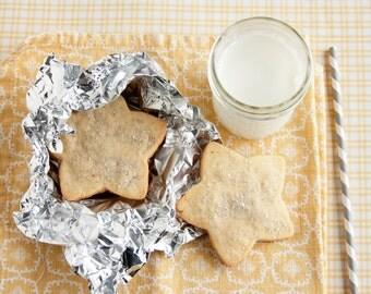 Silver Star Vanilla Bean Sugar Cookies - 2 dozen