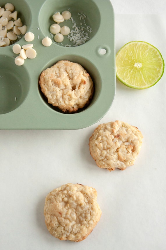 Coconut Lime White Chocolate Chip Cookies - 2 dozen fresh baked cookies