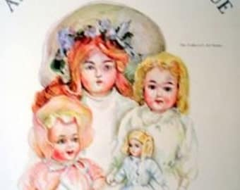 German Bisque Paper Dolls - Janet Nason - Dolls and Clothes - Uncut - Collectors Antique Art Series