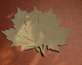 Large Leaf Punch Cut Outs in Parchment--Wedding Wishing Tree-Name Tag-Wedding Seating-Placecard-Fall Decor-Set of 15 Leaves--Ready to Ship