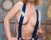 Latex Sailor girl Hotpants with braces