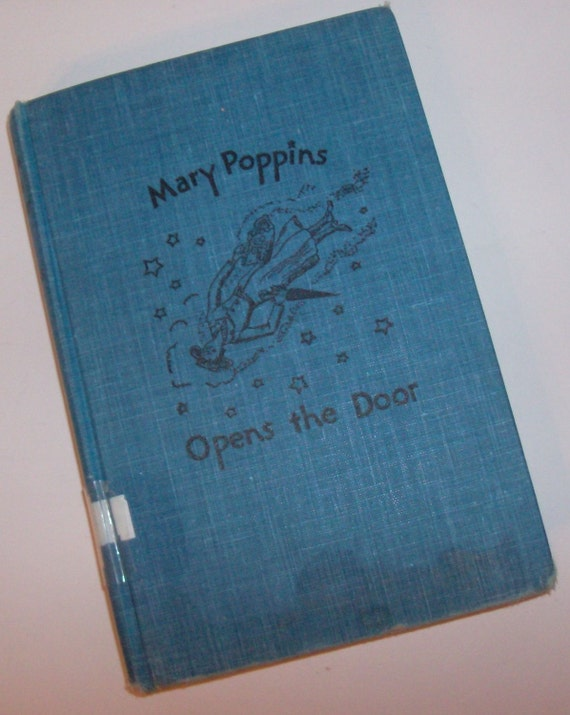 1943 Mary Poppins Opens the Door Antique Book (Code b)
