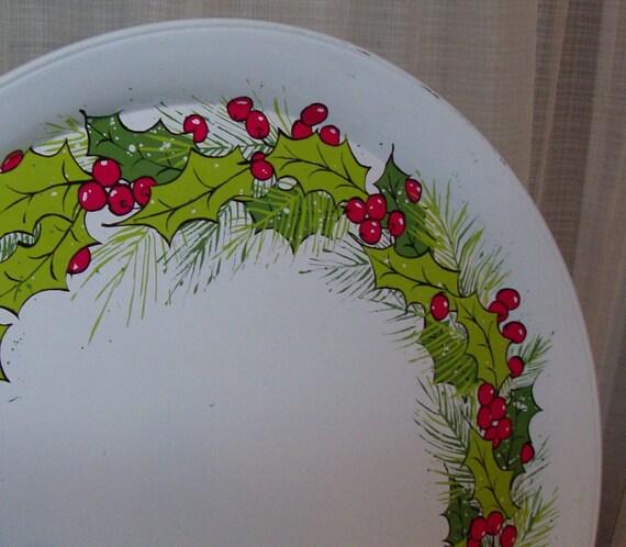 1960s Hallmark Christmas Tin Tray