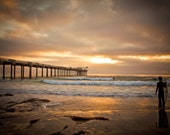 San Diego Beach Sunset Art - Scripps Pier La Jolla - Ocean Decor - San Diego Photography - Landscape Photography - Fine Art Photography