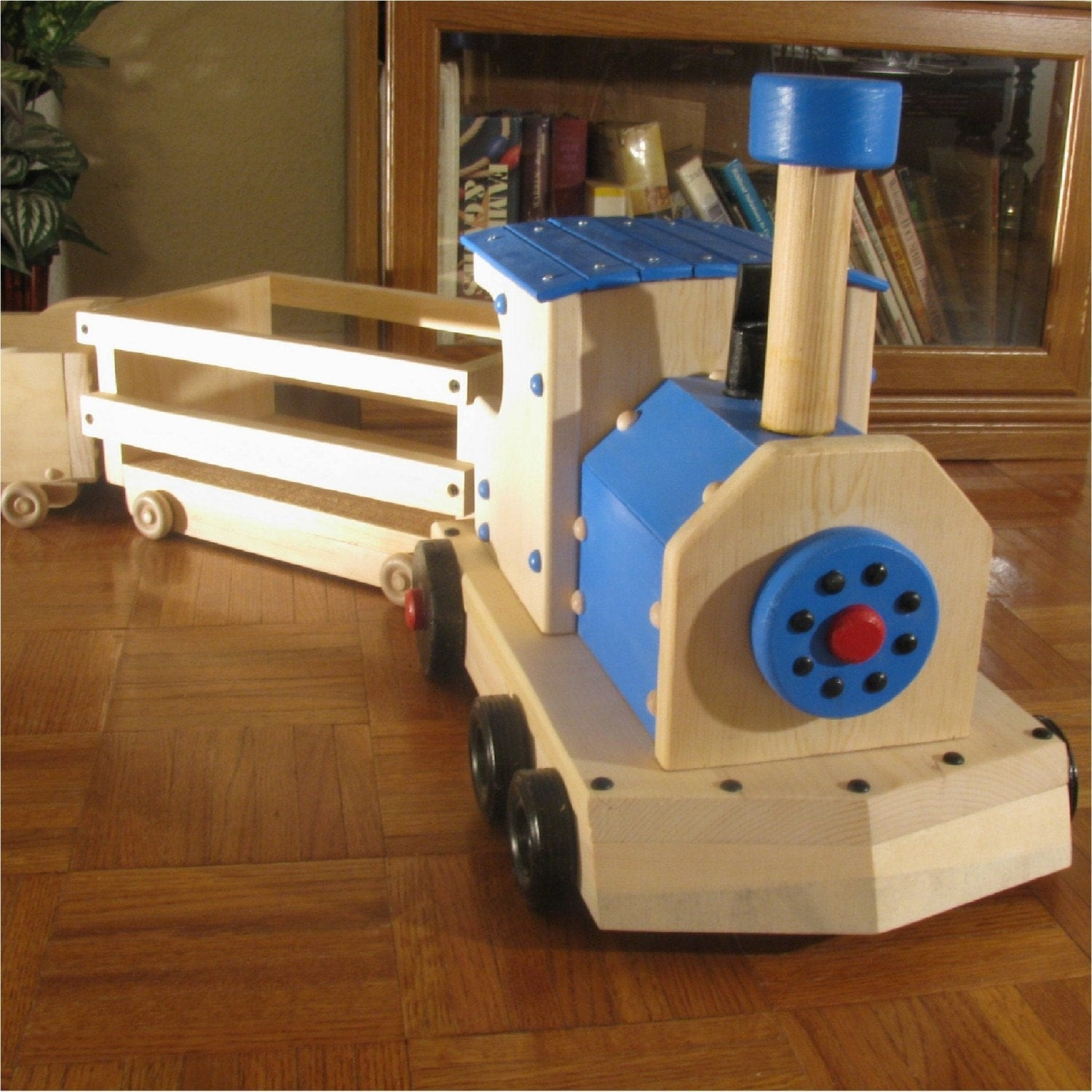 Wooden Toy Trains : Wooden toy train cars and inches long