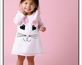 Easter Bunny Chenille Jumper, Easter Jumper, Bunny Jumper, Appliqued Bunny Face Jumper
