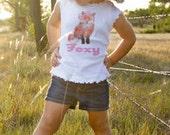 Foxy Girl Tshirt by Mumsy Goose Woodland Fox romper Baby Girl Creeper Foc Shirts