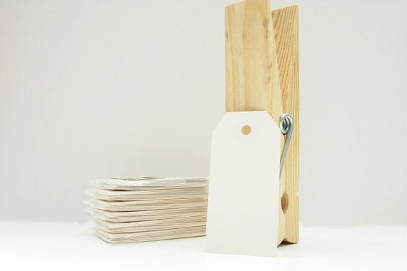 10 Small Gift Tags Shipping Tags Parcel Tags - White Tags