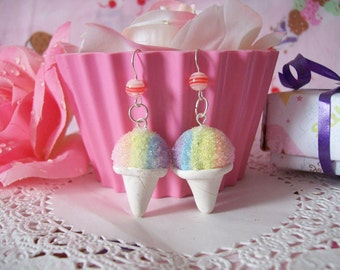 Snow Cone Earrings - Made to Order