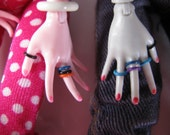 10 Rubber Rings for Monster High Barbie Fashion Royalty Blythe Dolls pick from 13 colors