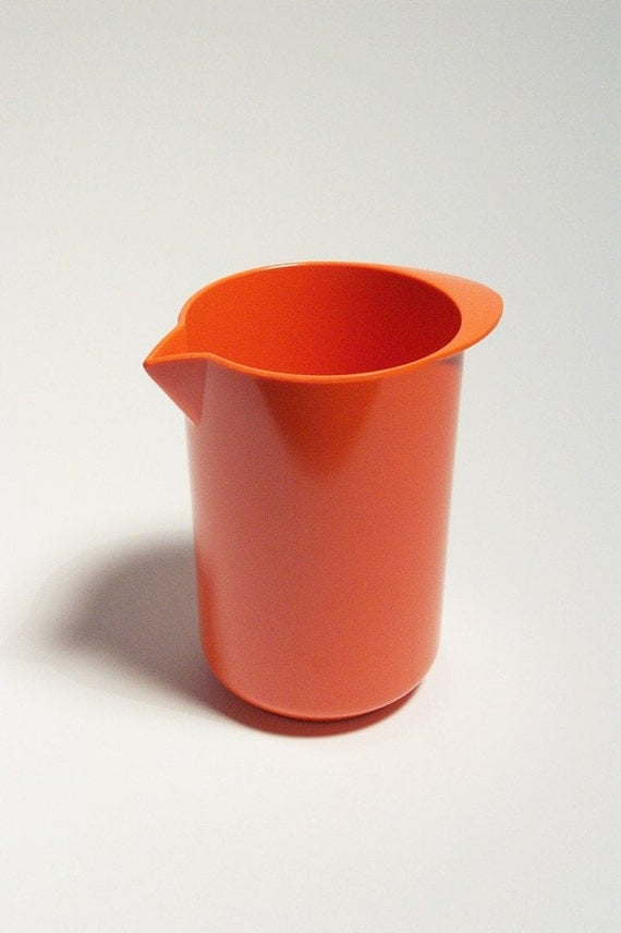 Vintage Rosti Denmark Orange Melamine 1 Liter Mixing Pitcher