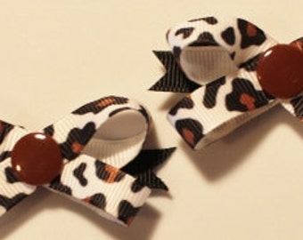 Wild Thang Snap N Go Dog Hair Bows - Set of 2 or Custom Single Bow
