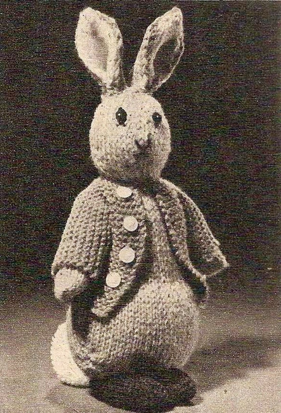 Knitting Pattern For Peter Rabbit Jumper : 1955 Peter Rabbit Vintage Knitting Pattern 455 by knittedcouture