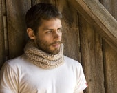 Unisex Crochet Wool Circle Scarf - Cowl - Choose your COLOR
