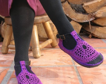 VEGAN Mary Jane crochet SHOES - Choose your color and model - CUSTOM made