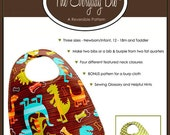 INSTANT Downlaod - The Everyday Bib - PDF Sewing Pattern with BONUS Pattern for a Burp Cloth