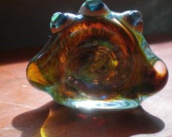 Three Eyed Vortex Monster Sculpture - Handblown Glass