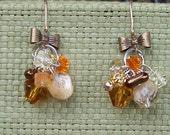 Vintage Autumn Bowtie Earrings