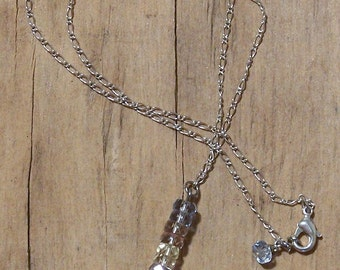 Vintage Style Multi Colored Crystal Tower Necklace Pendant