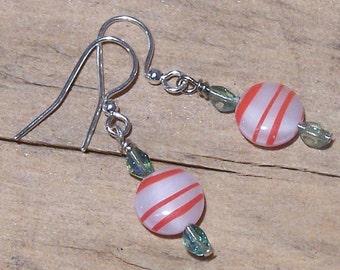 Sweet Peppermint Candy Earrings