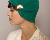 Green cloche with eggshell detail