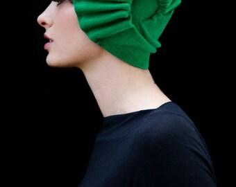Dream Hat - green felt cloche