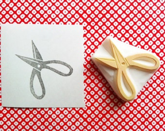 scissors  rubber stamp. sewing scissors hand carved rubber stamp. tool stamp. card making. gift wrapping. diy birthday mother's day crafts
