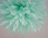 COOL MINT / 1 tissue paper pom / diy / wedding decorations / seafoam green / birthday party poms / pompoms / mint decorations / aisle marker