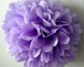 LAVENDER / 1 tissue paper pom pom / wedding decorations / diy / paper flowers / baby shower / pastel purple decoration / birthday party poms