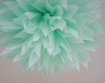 COOL MINT tissue paper pom / pastel wedding decorations / seafoam green / 1st birthday party pompoms newborn photoshoot prop aisle marker