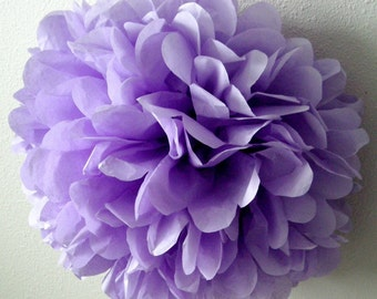 LAVENDER tissue paper pom purple wedding decorations pastel first birthday party girl baby shower bat mitzvah quinceanera sweet 16 hydrangea